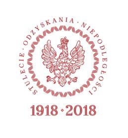 logo, pieczęć Prezydenta RP w stulecie niepodelgłości Polski