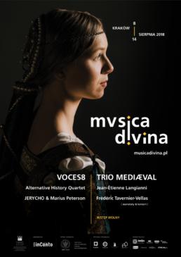 plkat pierwszej edycji festiwalu Musica Divina Program L Voces8, Trio Mediaeval, Jerycho, Alternetive History Quartet
